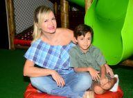 Eliana, grávida de Manuela, publica foto com filho, Arthur: 'Mãe equilibrista'