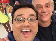 Marcelo Rezende posa com Geraldo Luís após rumor de briga: 'Não me larga'