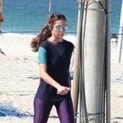 Patricia Poeta, após anunciar separação de Amauri Soares, corre na praia. Fotos!