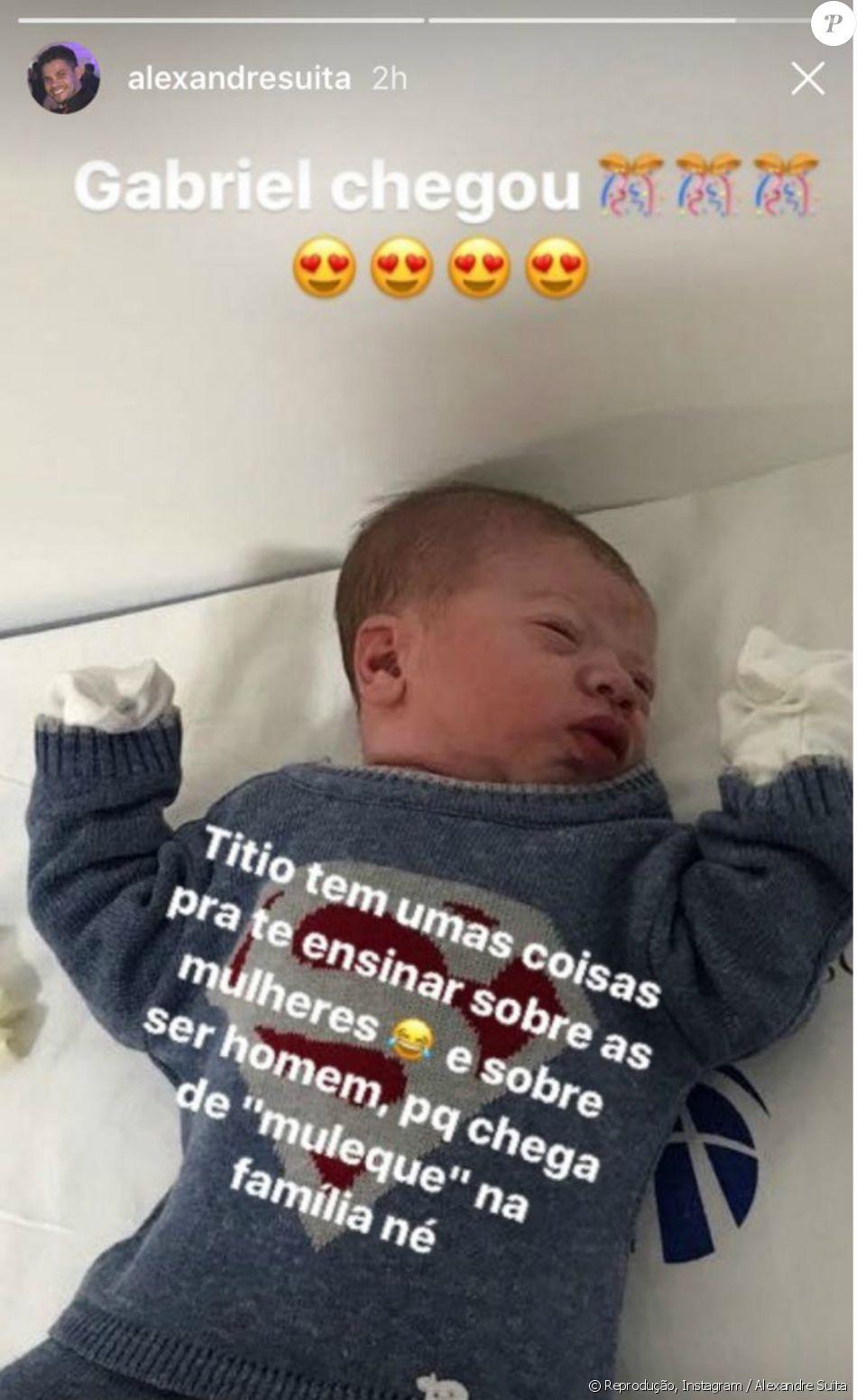 Andressa Suita deu à luz a Gabriel, fruto do casamento com Gusttavo Lima, na noite desta quarta-feira, 28 de novembro de 2017