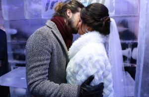 Luan Santana dá beijo em fã em 'casamento' em festa junina na Paraíba. Fotos!