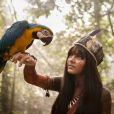 Giullia Buscacio vive a índia Jacira da novela 'Novo Mundo'