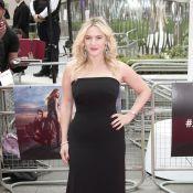 Kate Winslet usa vestido que realça suas curvas na première de 'Divergente'