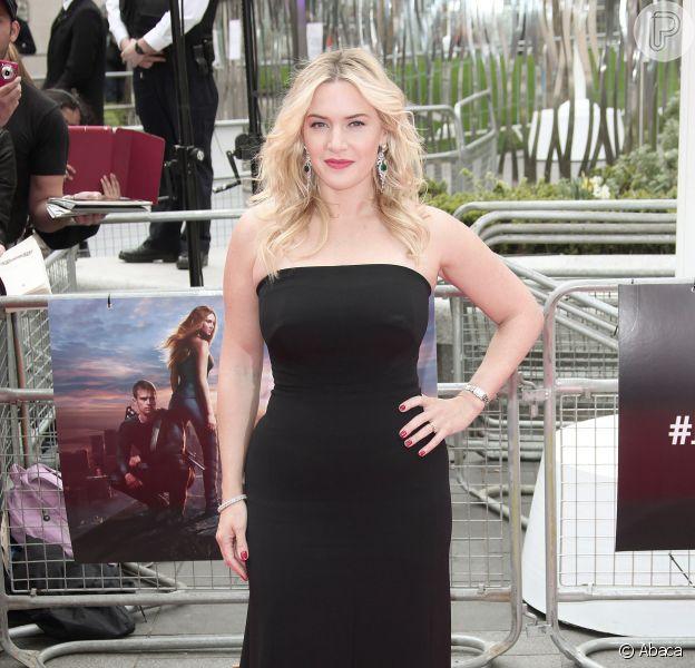 Kate Winslet participa da première de 'Divergente', em Londres, na Inglaterra, em 30 de março de 2014