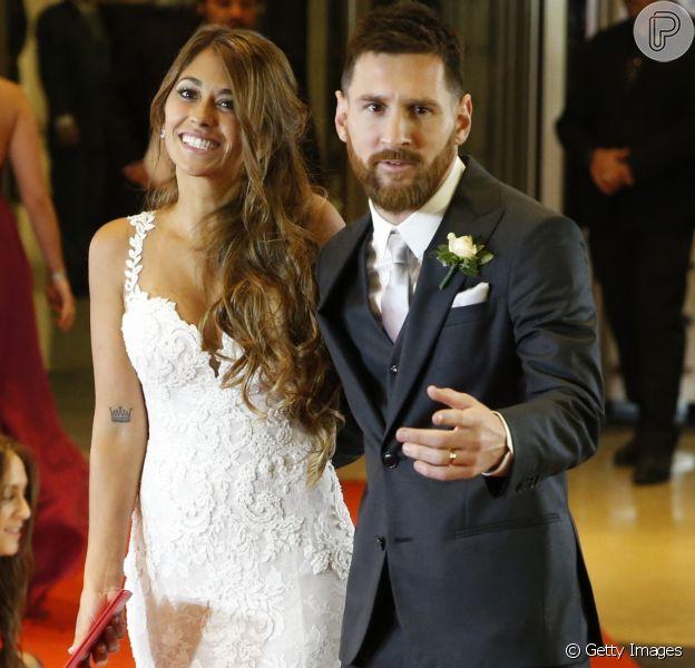 Casamento de Lionel Messi e Antonella Roccuzzo aconteceu em Rosário, na Argentina, em 30 de junho de 2017