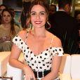 Giovanna Antonelli investiu em penteado presopara ir a um evento de moda em São Paulo