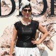 Rossy de Palma, atriz e modelo espanhola,  posa no desfile de alta-costura que celebrou os 70 anos da Dior, em Paris, na França, em 3 de julho de 2017