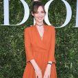 """A atriz francesa  Louise Bourgoin  esteve no lançamento da exibição """"Christian Dior, couturier du rêve"""", em celebração aos 70 anos da Dior, em Paris, na França, em 3 de julho de 2017"""