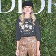 Helena Bordon  apostou no chapéu como acessório para o lançamento da exibição 'Christian Dior, couturier du rêve', em celebração aos 70 anos da Dior, em Paris, na França, em 3 de julho de 2017