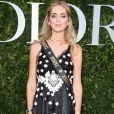 """Chiara Ferragni, blogueira italiana,  prestigiou o lançamento da exibição """"Christian Dior, couturier du rêve"""", em celebração aos 70 anos da Dior, em Paris, na França, em 3 de julho de 2017"""