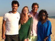 Marina Ruy Barbosa e noivo, Xandy Negrão, encontram Gloria Maria em Portugal