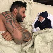 Gusttavo Lima se divide entre shows e o filho, Gabriel: '5 dias que não durmo'