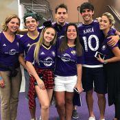 Larissa Manoela e Thomaz Costa assistem Kaká jogar no Orlando City: 'Felicidade'