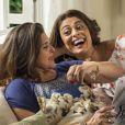 Juliana Paes acertou com Elizangela como seria a relação de mãe e filha entre Bibi e Aurora na primeira gravação: 'Combinei que não ia ter frescura'
