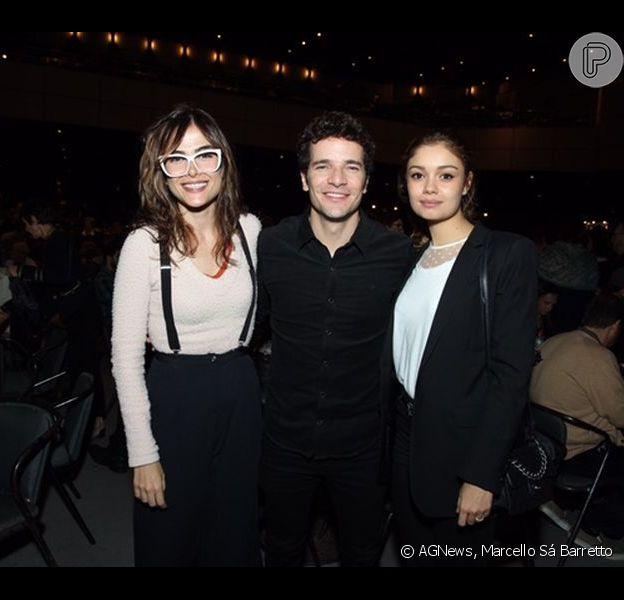 Sophie Charlotte, Daniel de Oliveira e Maria Casadevall foram a uma casa de shows no Rio neste sábado, 8 de julho de 2017, para conferir a apresentação de Maria Bethânia