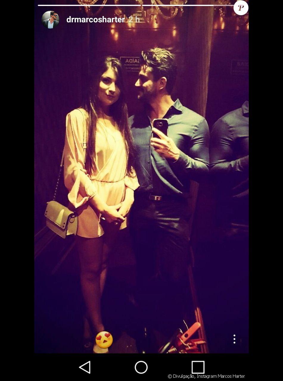 Veja primeira foto postada pelo ex-BBB Marcos Harter com a namorada, a estudante Babi Rocha