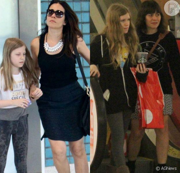 Alessandra Negrini foi às compras com a filha Betina, de 12 anos, nesta terça-feira, 11 de julho de 2017