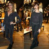 Fernanda Lima e Laura Neiva usam looks parecidos em evento de moda. Fotos!
