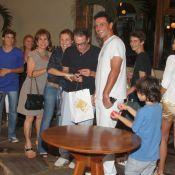 Adriana Esteves e o ex Marco Ricca comemoram aniversário do filho, Felipe