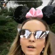 Larissa Manoela se diverte com filha de Ticiane Pinheiro na Disney: 'Turma'