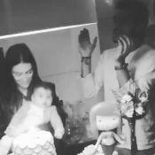 Yanna Lavigne, Bruno Gissoni e Felipe Simas festejam mesversário das filhas