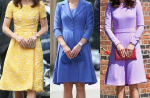 Kate Middleton explora cores e monocromia em looks durante viagem oficial. Fotos