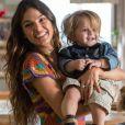 Ritinha (Isis Valverde) avisa Ruy (Fiuk) que vai embora com o filho se Cibele (Bruna Linzmeyer) se aproximar de Ruyzinho de novo, na novela 'A Força do Querer'