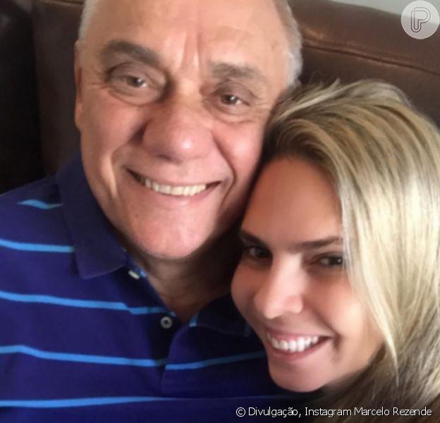 Marcelo Rezende, tratando câncer, ganhou declaração da namorada: 'Sorriso lindo'