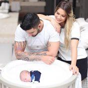 Andressa Suita e Gusttavo Lima mostram filho dormindo: 'Amor sem explicação'