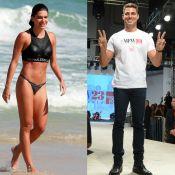 Mariana Goldfarb curte praia no RJ, enquanto Cauã Reymond desfila em SP. Fotos!
