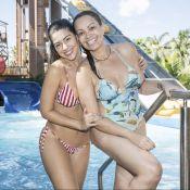 Solange Almeida e ex-BBB Vivian mostram boa forma em parque aquático. Fotos!