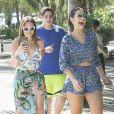 Solange e ex-BBB Vivian foram só sorrisos n o Beach Park, em Fortaleza