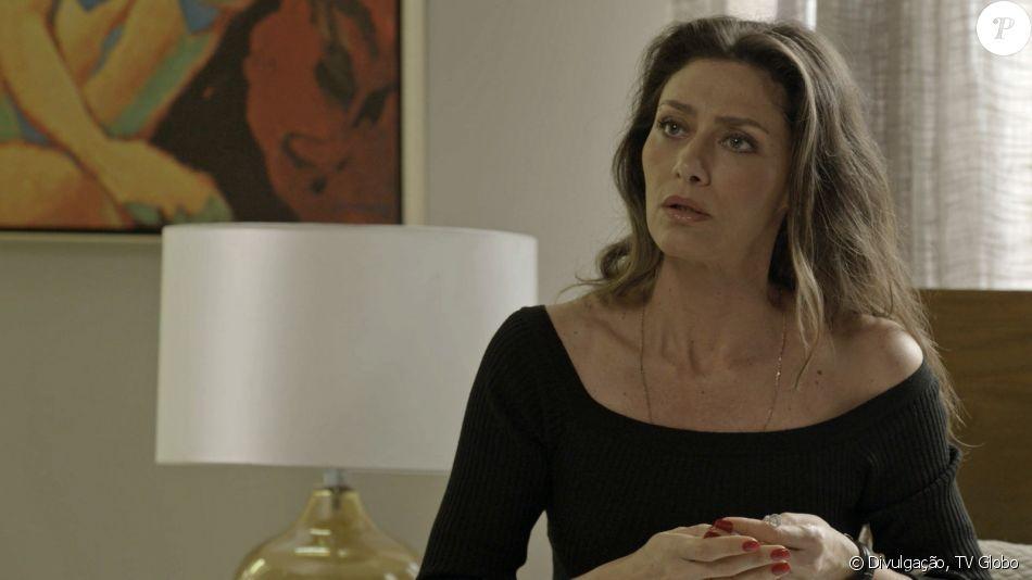 Joyce (Maria Fernanda Cândido) procura Eugênio para desabar sobre a atitude de Ivana