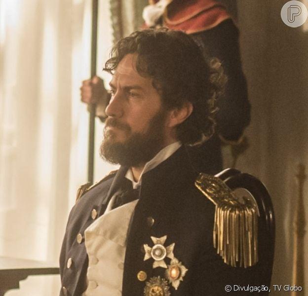 Thomas (Gabriel Braga Nunes) acusa Anna (Isabelle Drummond) de não estar 'em pleno uso de suas faculdades mentais', na novela 'Novo Mundo'