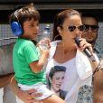 Ivete Sangalo é d iscreta com relação à intimidade do filho, Marcelo