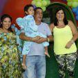 Zeca Pagodinho fez uma grende festa em fevereiro para celebrar o aniversário do neto, Noah