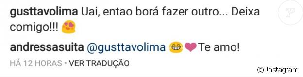 Gusttavo Lima propôs nova gravidez a Andressa Suita no Instagram