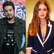 Luan Santana surge de visual novo em selfie com Marina Ruy Barbosa: 'Olha isso!'