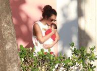 Yanna Lavigne leva filha, Madalena, para tomar vacina: 'Coração apertado'