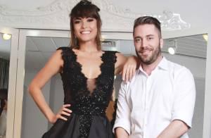 Maria Casadevall usa vestido de noiva preto em prova de roupa para desfile em SP