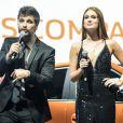 Marina Ruy Barbosa e Bruno Gagliasso apresentaram o lançamento do carro Renault Kwid, no Allianz Arena, em São Paulo,na noite desta quarta-feira, 02 de agosto de 2017