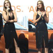 Marina Ruy Barbosa elege look com decote e fenda para evento em SP. Fotos!