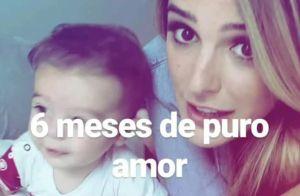 Rafa Brites comemora mesversário do filho, Rocco: 'Seis meses de puro amor'