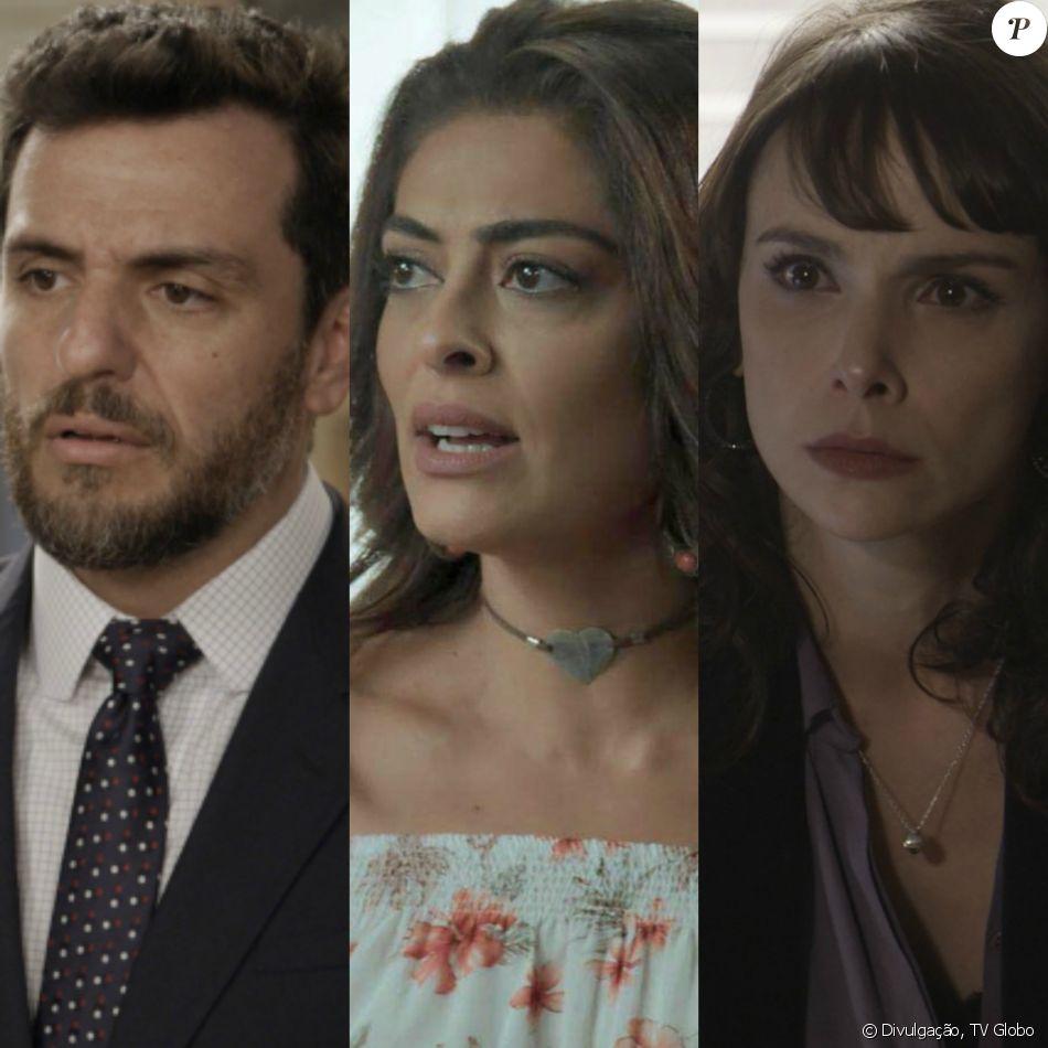 Caio (Rodrigo Lombardi) e Bibi (Juliana Paes) vão mirar manchete de jornal depois de Irene (Débora Falabella) vazar uma foto do encontro da dupla na novela 'A Força do Querer'