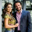 Caio (Rodrigo Lombardi) e Bibi (Juliana Paes) serão procurados por repórteres depois do vazamento da foto