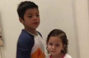 Filhos de Safadão esbanjam fofura dançando música do pai e de Ivete Sangalo