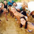 Bruno Gagliasso comemora aniversário de 32 anos em Fernando de Noronha. O ator, Giovanna Ewbank, Giovanna Lancellotti, Miguel Rômulo, Astrid Fontenelle e Fabiula Nascimento conheceram as tartarugas do Projeto Tamar