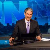 William Bonner deseja 'bom fim de semana' no 'JN' de quinta-feira: 'Tô na sexta'