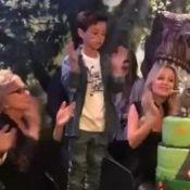 Grávida de segunda filha, Eliana comemora aniversário de Arthur com festa. Vídeo