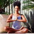 'Mas continuo praticando yoga, pilates e caminhada', afirmou Sheron Menezzes, grávida de sete meses de um menino